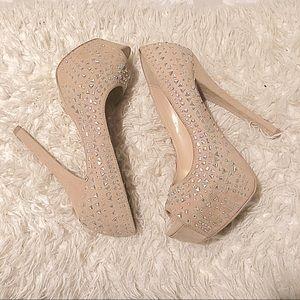 Shi by Journey's Nude Peep Toe Platform Shoes!